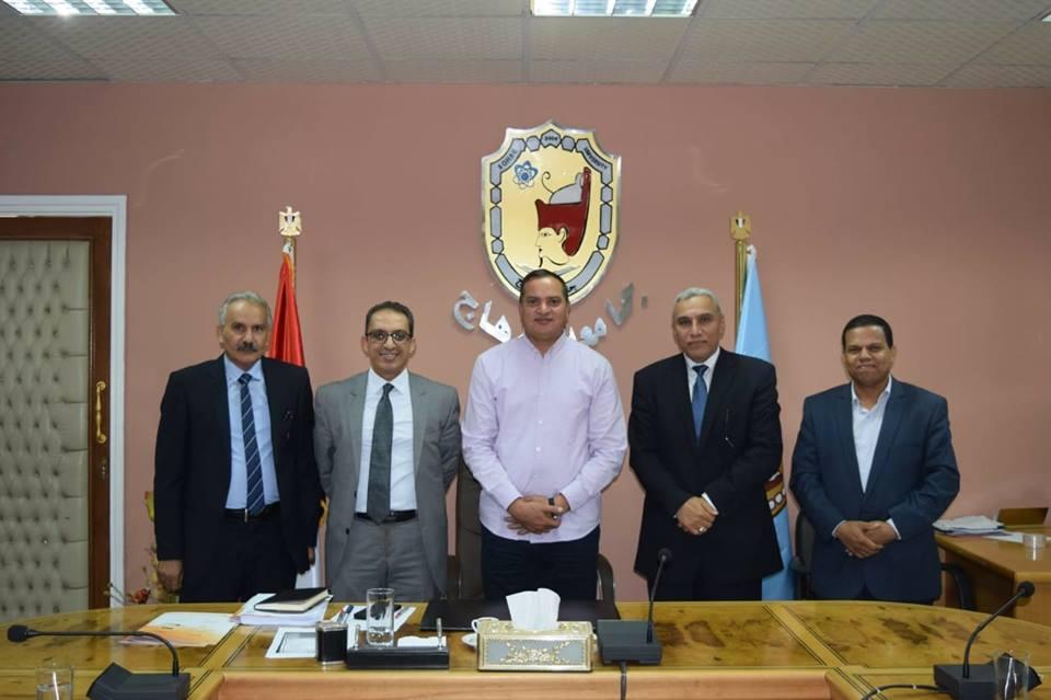 جامعة سوهاج تبحث التعاون مع الشركة العربية لتكنولوجيا المعلومات MKCL