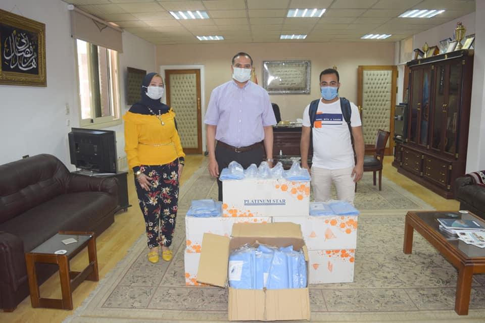 """""""مبادرة رفقاء الخير"""" تدعم المستشفى الجامعي بسوهاج لمواجهة فيروس كورونا"""