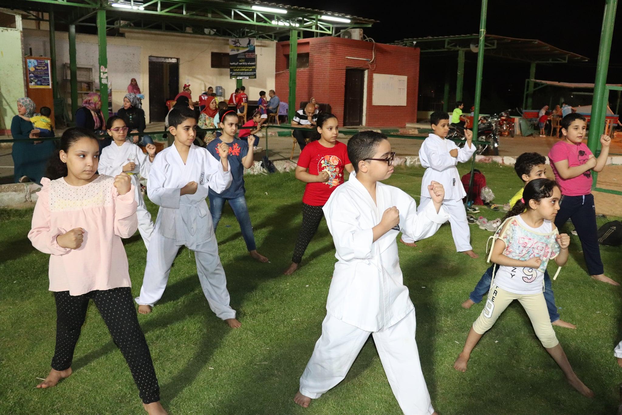 فعاليات تدريب لعبة الكاراتية باكاديميات جامعة سوهاج