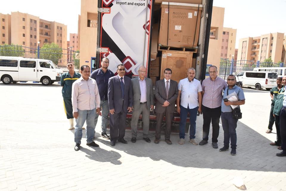 """صندوق تحيا مصر"""" يدعم مستشفى سوهاج الجامعي الجديد بعدد٣٢ ماكينة غسيل كلوى و٢٠ حضانة"""